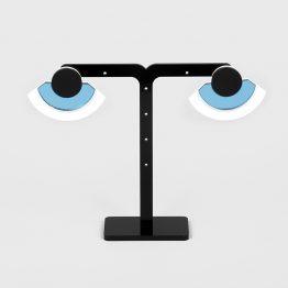 Σκουλαρίκι μάτι plexi glass